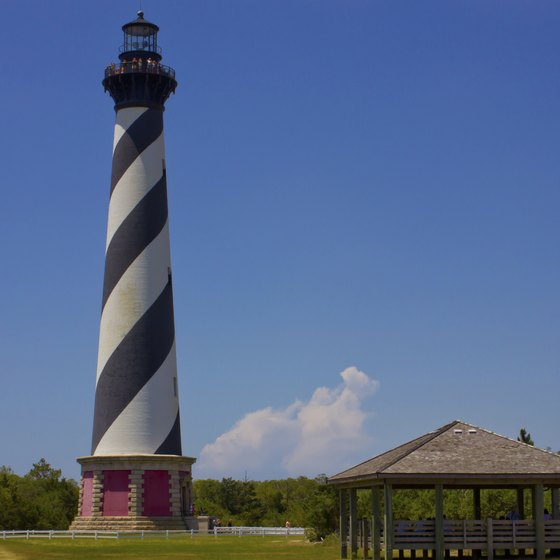 "The Cape Hatteras Light shines on the ""Graveyard of the Atlantic."""