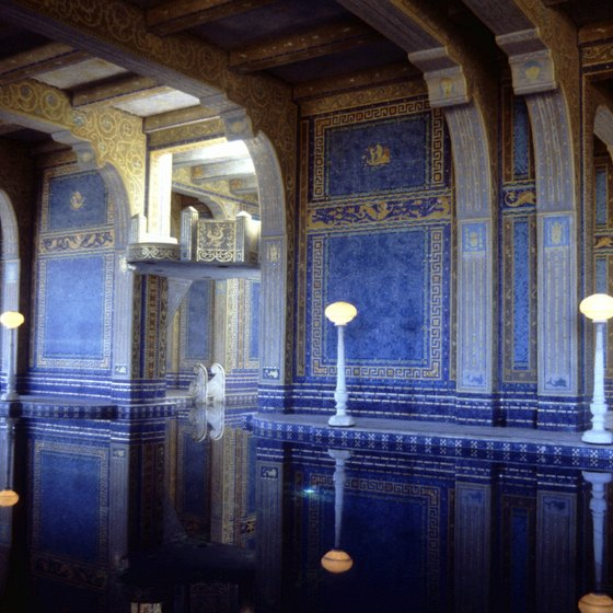The indoor swimming pool is just one of the many deluxe attributes of Hearst Castle.