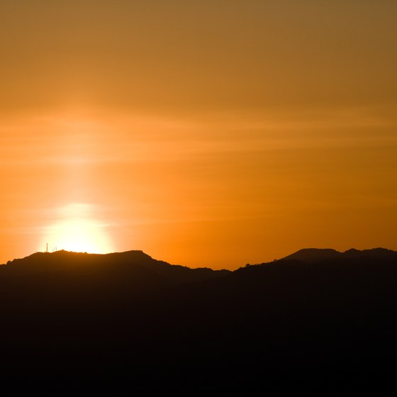 Camping near Santa Barbara gives you a chance to enjoy the area's vibrant sunsets.