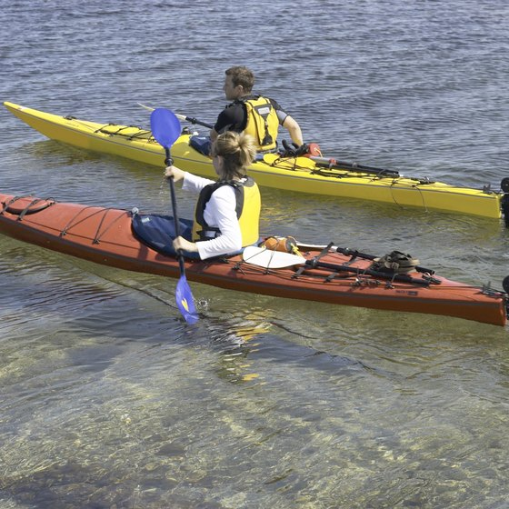 Rent a kayak to explore the waters around St. George Island, Florida.
