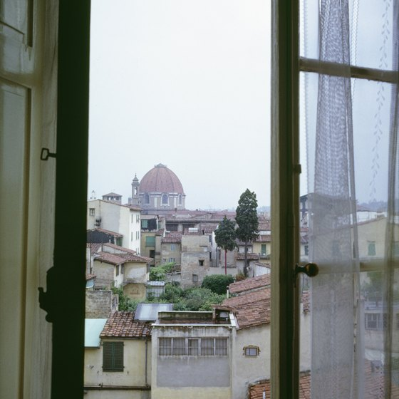 A room with a view is a romantic way to enjoy Florence.