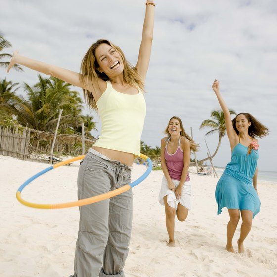 Use social media sites to find great deals for your girls' weekend at the beach.