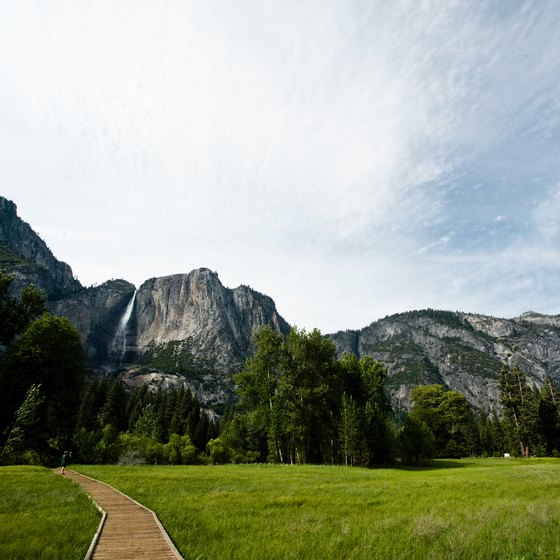 Lodging is easy to come by in the vicinity of Yosemite National Park's entrances.