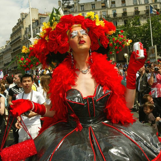 Gay Pride is held in Paris every June.