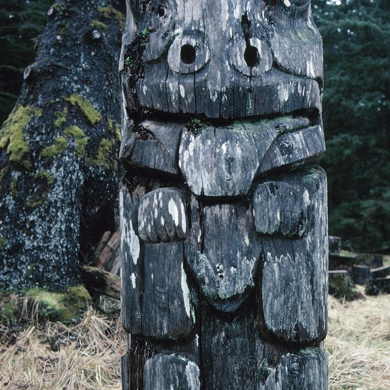 Haida Gwaii is known for its intricately carved totem poles.