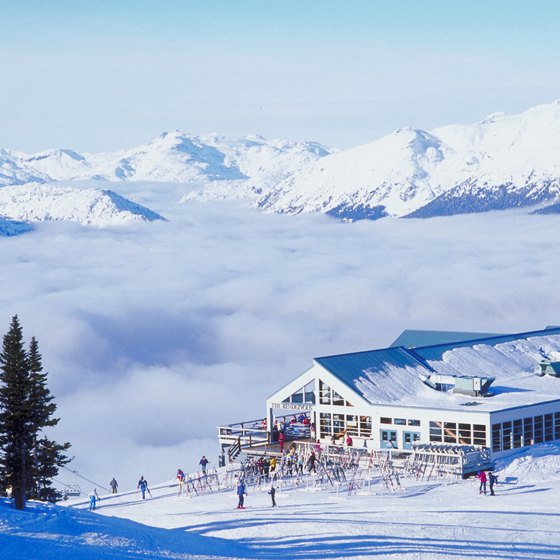 The Whistler/Blackcomb ski area is one of Canada's largest resorts.