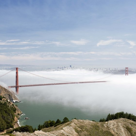 The fog rolling into San Francisco helps keep the coast cool.