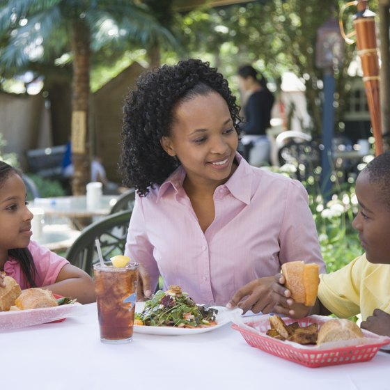 Many Hammond restaurants cater to families.