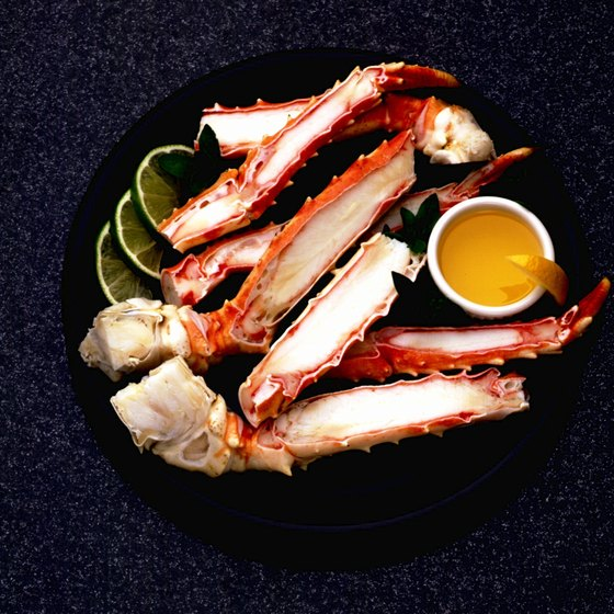 Dine on crab legs in Hampton, Virginia.