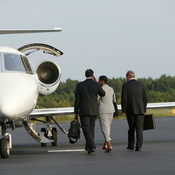 Choosing to fly on a private planes can be an economical option for groups flying short distances.