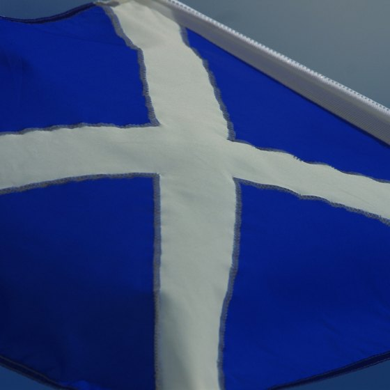 The Scottish flag is represented in the British Union Jack.
