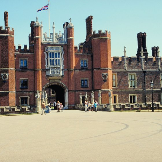 Hampton Court Palace in the London Borough of Richmond upon Thames.