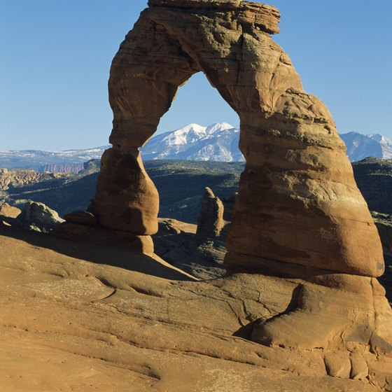 Thousands of arches fill the national park of the same name, including the famed Delicate Arch.