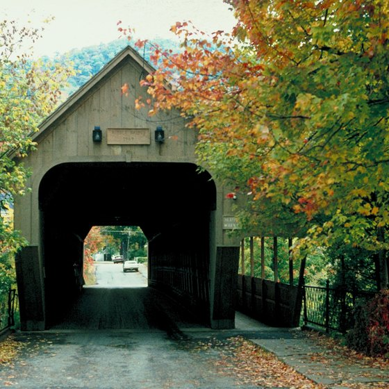 New England's covered bridges are most scenic in fall.