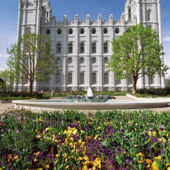 Salt Lake City's Mormon Temple sits within walking distance of upscale restaurants.