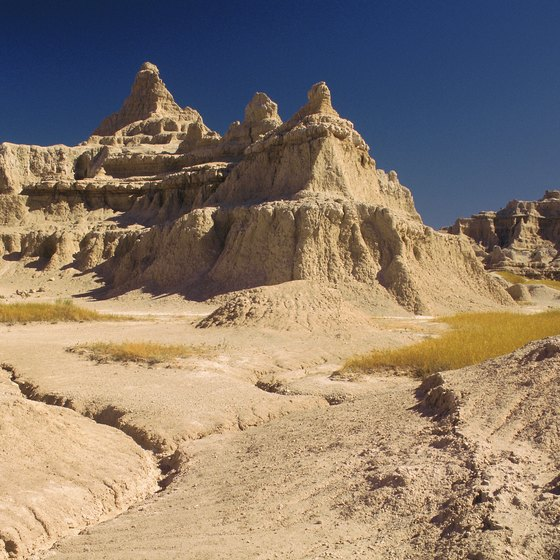 South Dakota's badlands feature unique rock formations.