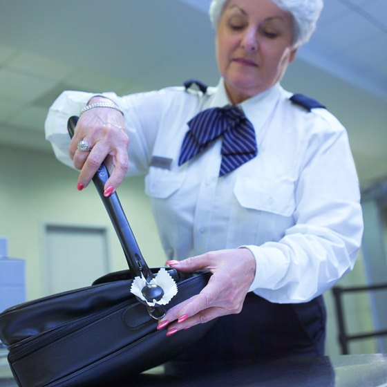 Baggage screeners can remove TSA-approved luggage locks easily, to check bag contents as needed.
