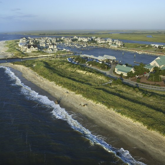 North Carolina's coastal region offers cottage accommodations near the Atlantic Ocean.