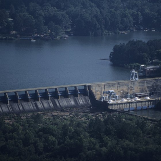 The Chattahoochee River contains a number of hydroelectric dams.
