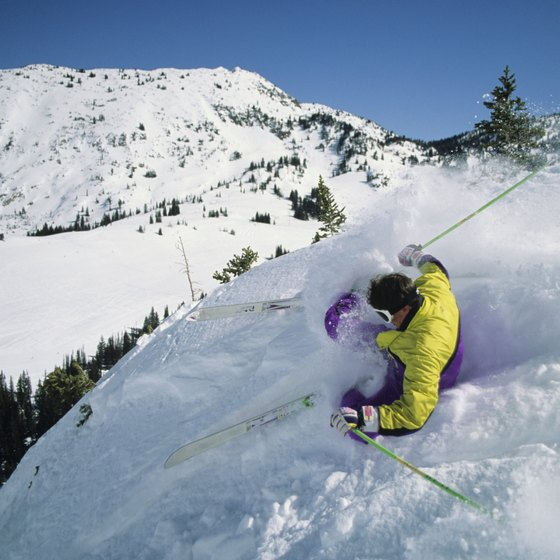 Challenging terrain and deep snow await skiers at Snowbird.