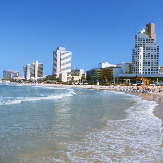 Mediterranean beaches attract visitors to Tel Aviv from all over the globe.