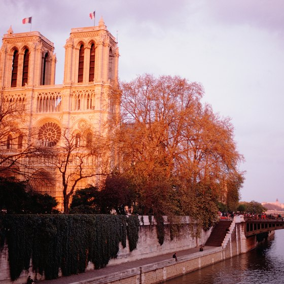Cathedral of Notre Dame lies in Paris, France, one of Europe's multiple historic cities.