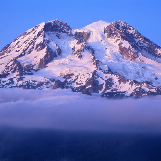 Some of the trails near Packwood offer glimpses of Mount Rainier.