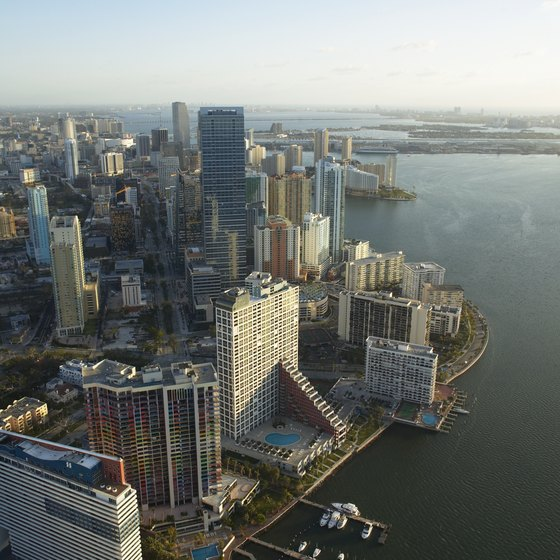 Many romantic attractions provide views of Miami's skyline and water.