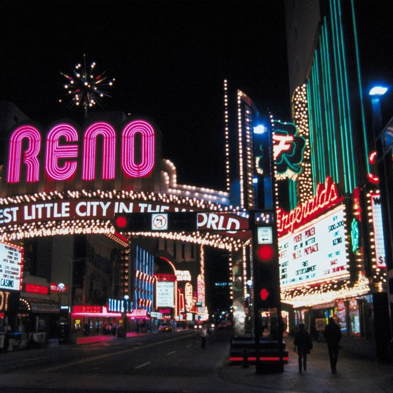 Reno sits near Interstate 80 in western Nevada.