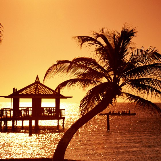 Enjoy a Honduras sunset on the beach.