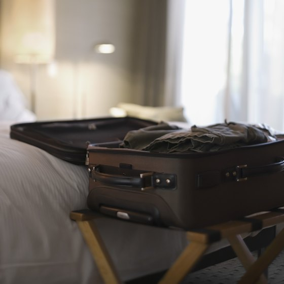 Everything you need can fit in a carry-on suitcase.