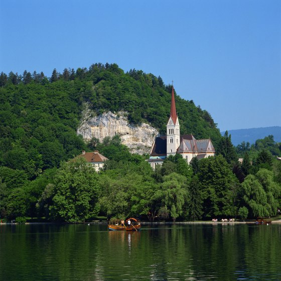 Church of St. Martin on Lake Bled, Slovenia
