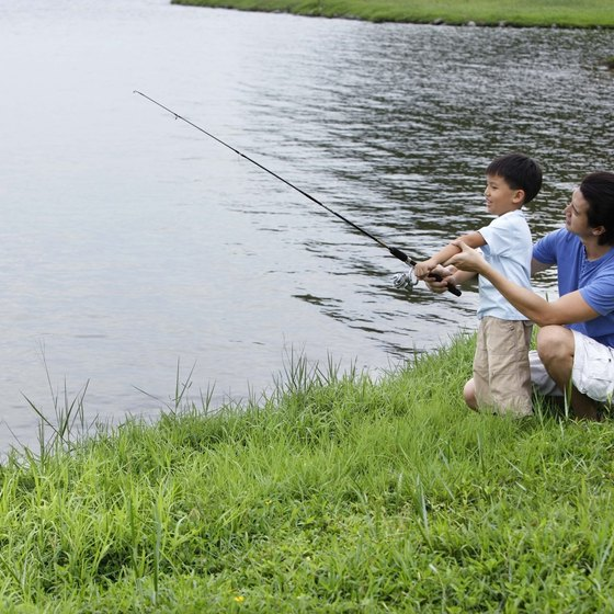 Fishing is a popular sport in Singapore.