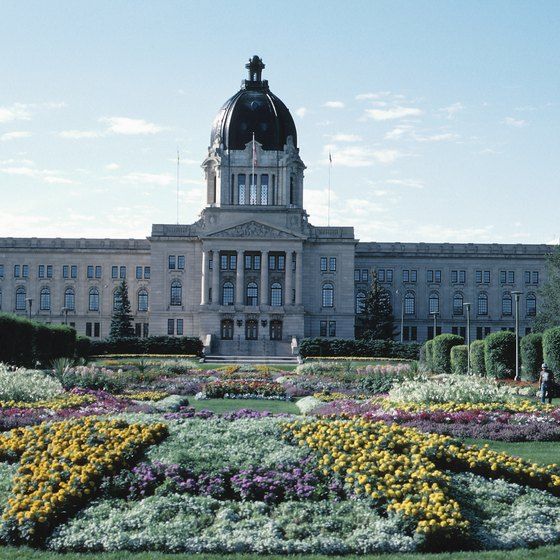 The Legislative Building is one of Regina's famous structures.