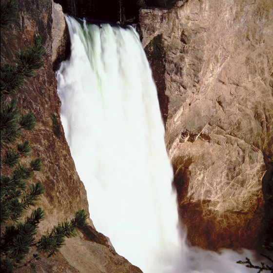 Yellowstone National Park offers inspiring waterfall views.