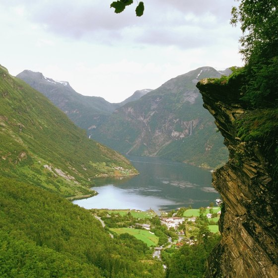 The fjords in Norway are a major vacation spot due to their spectacular scenery.