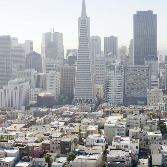 View of downtown San Franscisco, California