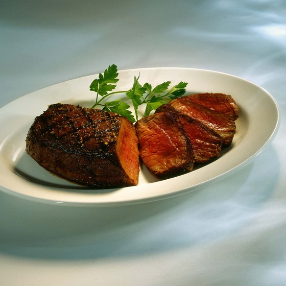 Diners can find grilled steak in the Meatpacking District in New York City.