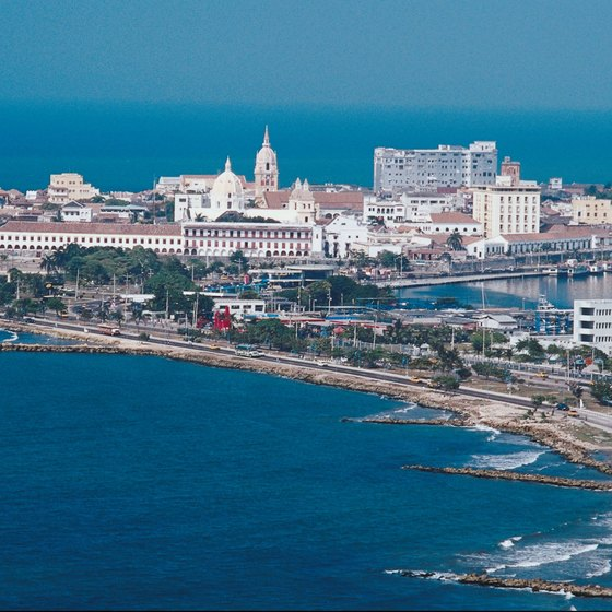 The Colombian port city of Cartagena.