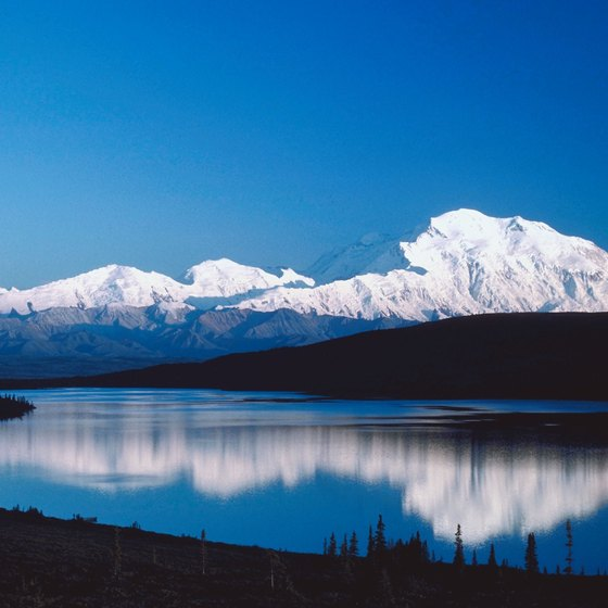 Mount McKinley lies in Denali National Park, where you'll also find tundra.