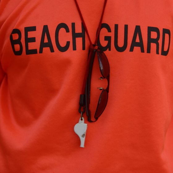 Scarborough Beach hosts portions of the annual Rhode Island Lifeguard Games.