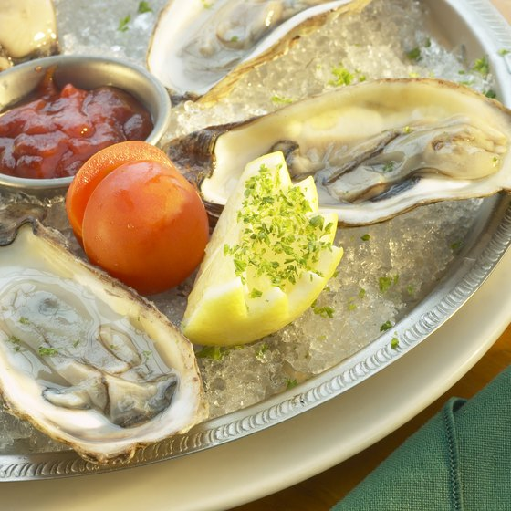 Fresh Gulf oysters are a favorite dish at Louisiana restaurants.