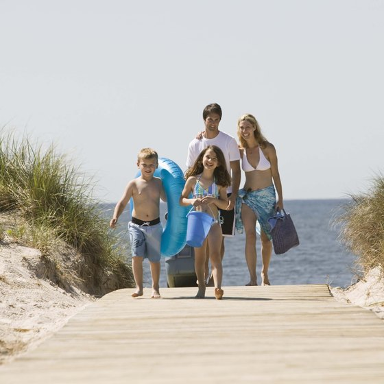 Orange Beach, Alabama is a popular vacation spot for families.