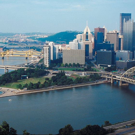 Three rivers converge in Pittsburgh, Pennsylvania.
