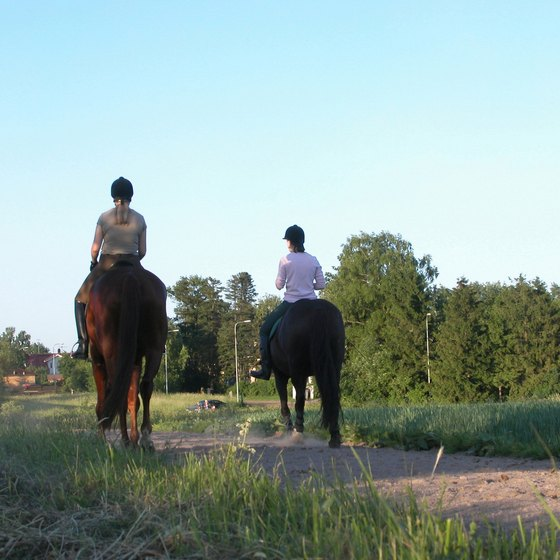 Trail riding is available in Pasco County parks.