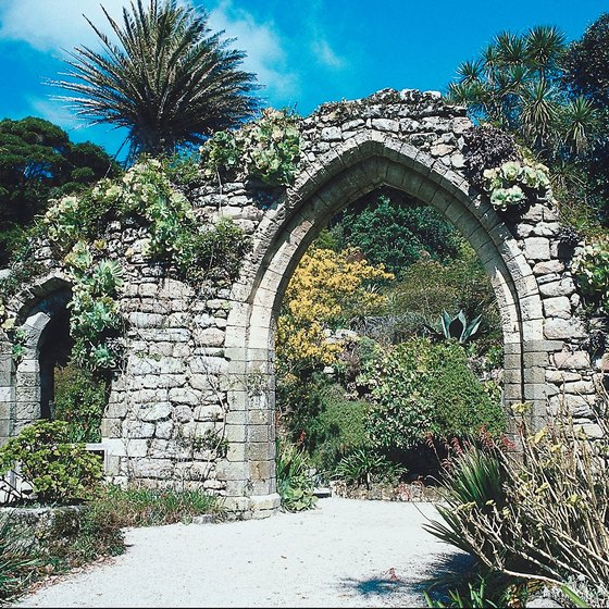 The Abbey Garden on Tresco, one of the Scilly Islands, bring a bit of the Mediterannean to Britain.