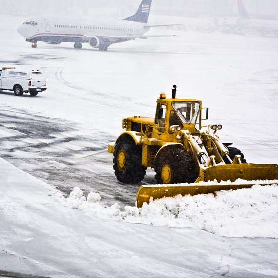 Winter storms often cause flight delays.