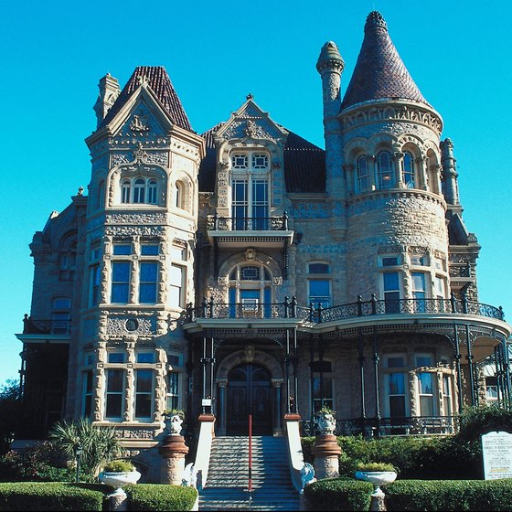 Galveston is home to many historic buildings, including Bishop's Palace.