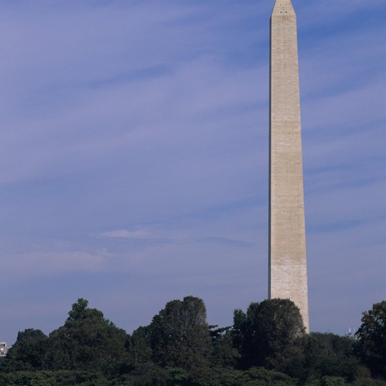 Passengers aboard the Washington by Water Monuments Cruise can see the Washington Monument.