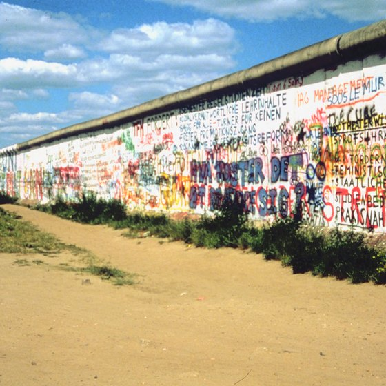 The Berlin Wall divided the city in half after World War II.